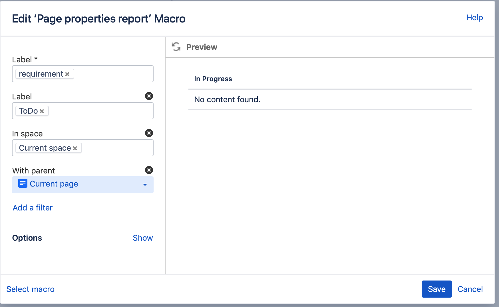 Publish Jira issues in Confluence Target page macro details