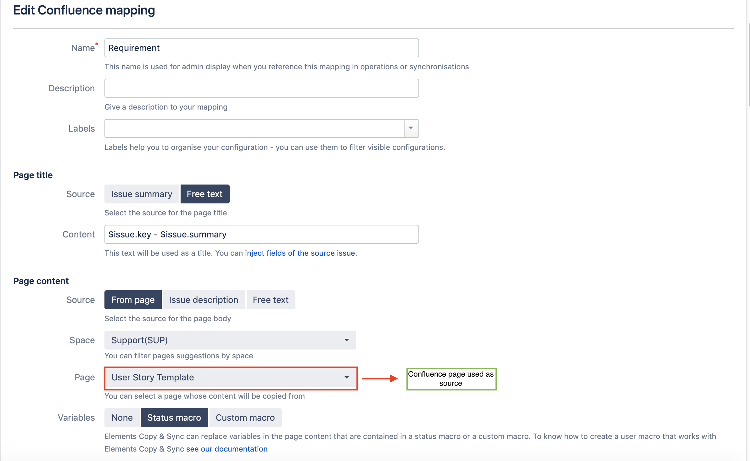 Create Confluence mapping in Jira