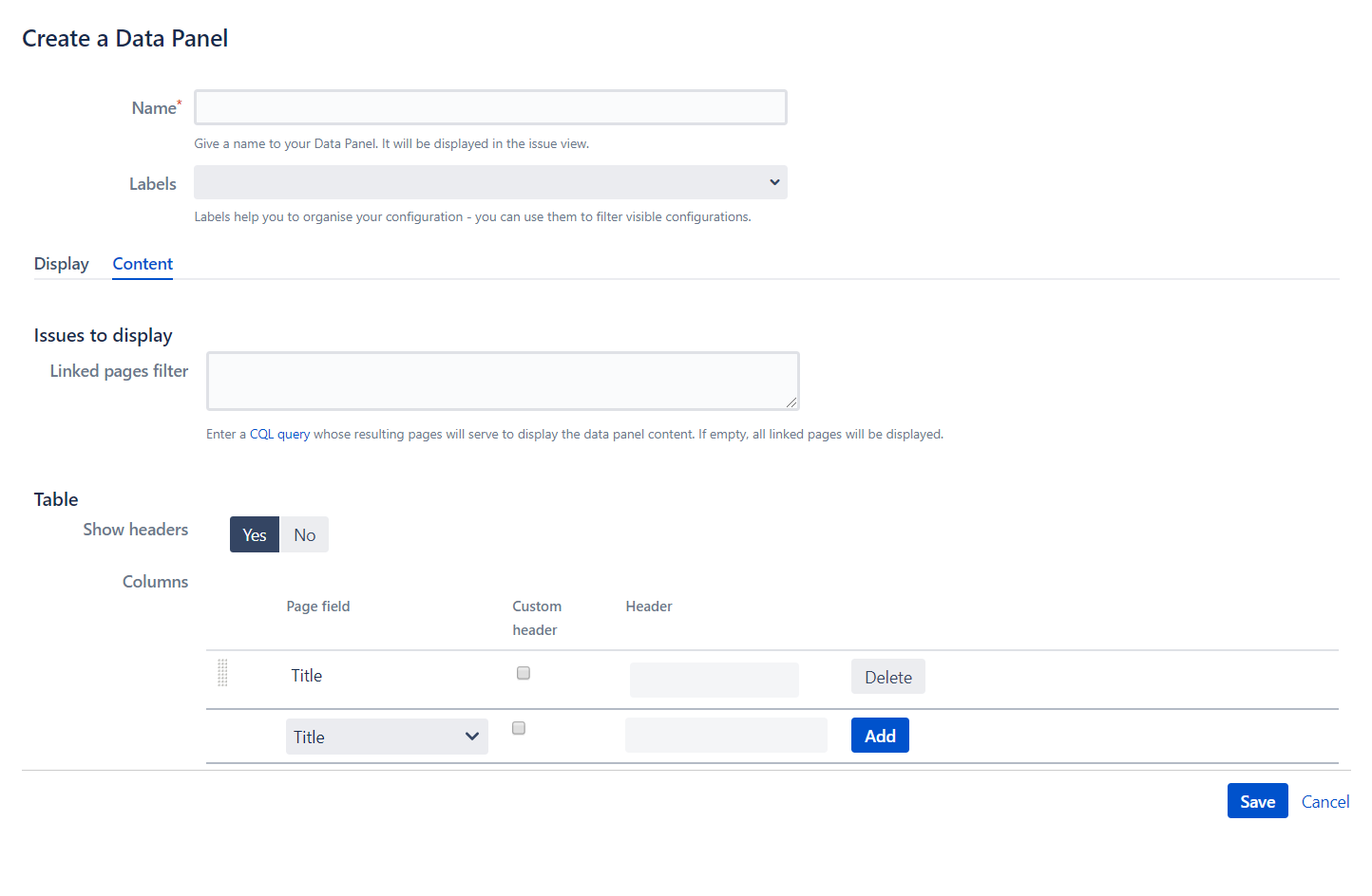 Copy and Sync Confluence data panel content