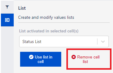 Remove list from a cell